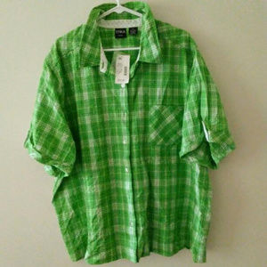 ERIKA Green Plaid Shirt